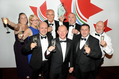 Danaher & Walsh winning the East Midlands Chamber Business Awards 2015 Business of the Year.