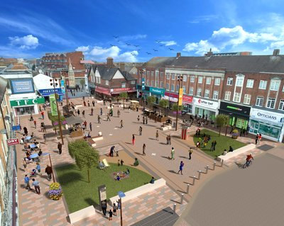 An artist's impression of the completed scheme in Waltham Cross, Hertfordshire.