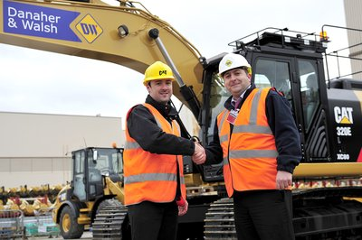 New Caterpillar excavators being handed over to Danaher & Walsh Plant Hire.